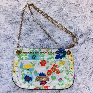 Anne Klein Gold chain Floral Crossbody Bag